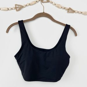 BECCA black scoop neck bikini crop bathing suit